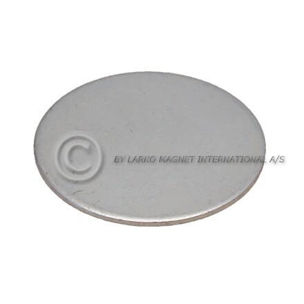 Metal discs with adhesive