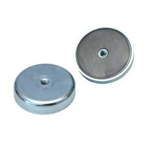 Pot magnets – ferrite – internal thread