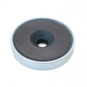 Pot magnet – ferrite – bore / countersunk