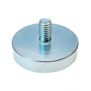 Pot magnet – neodymium – external thread